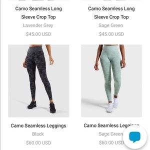 Gymshark Pants - High waisted gymshark leggings in camo sage